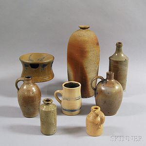 Eight Stoneware Items
