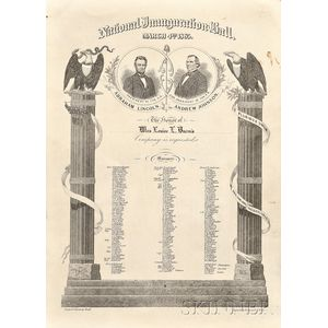 (Lincoln and Johnson Second Inauguration Invitation)