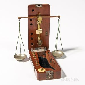 Boxed Pocket Gold and Jewel Balance Scale